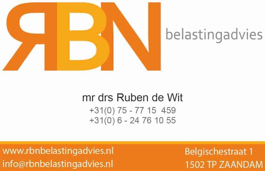 RBN belastingadvies V-card