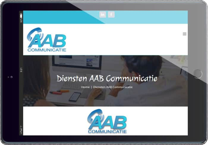 Project AAB communicatie restyling van de website
