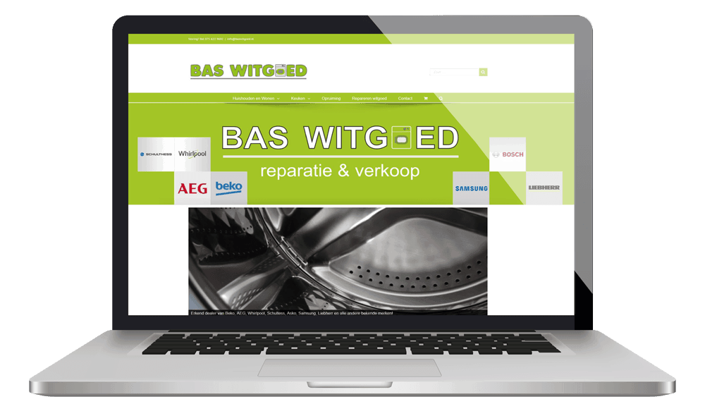 Baswitgoed laptop homepage