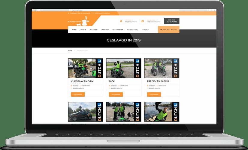 Website Rijschool dutch