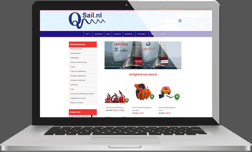 Project Qsail webshop voor zeilers